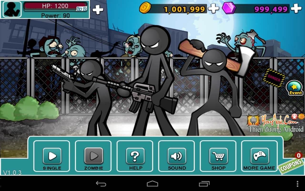 Hack Anger Of Stick 5 mod full tiền, kim cương cho Android