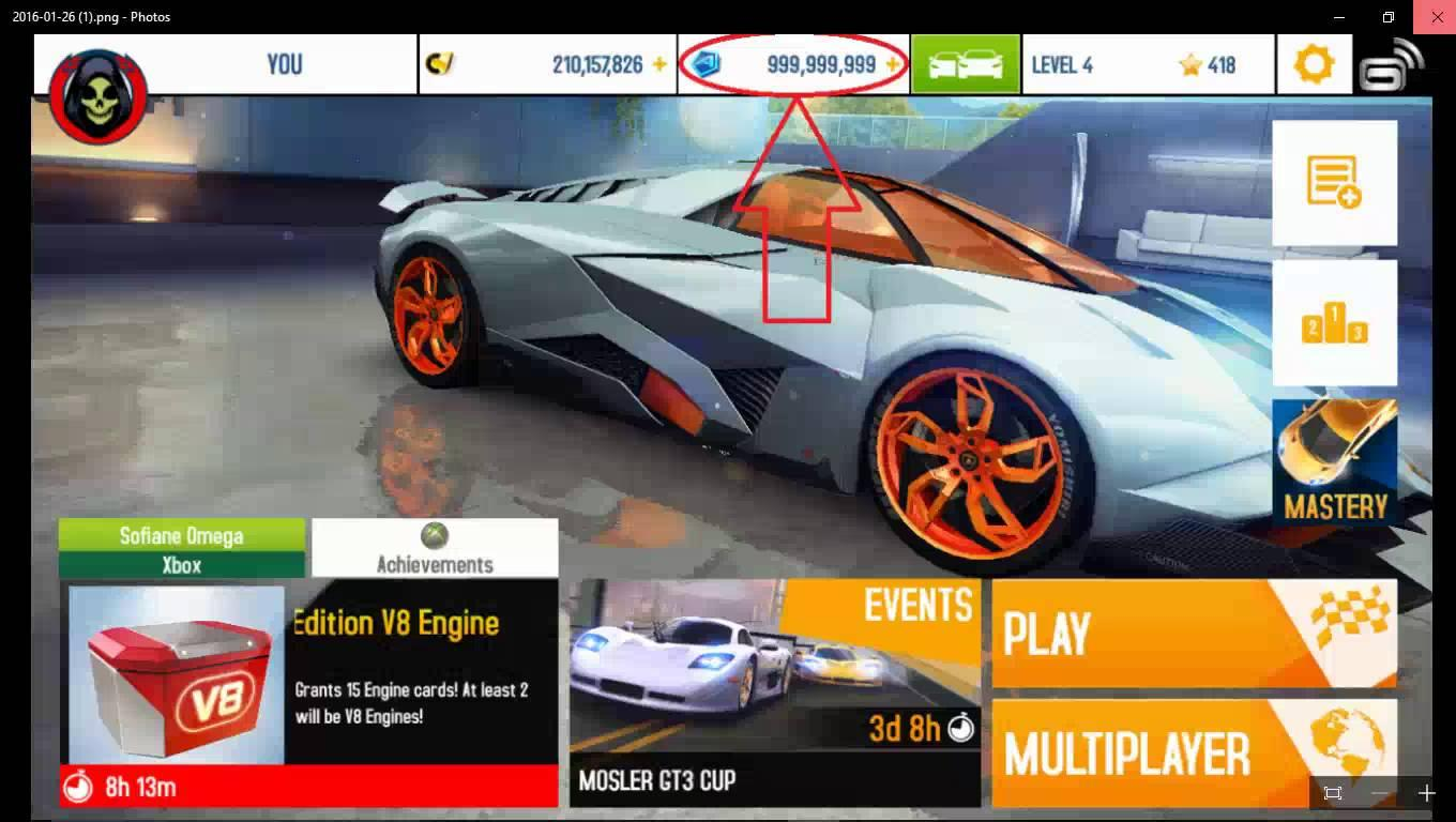 Hack Asphalt 8 | Mod Asphalt 8 full tiền, level up cho Android