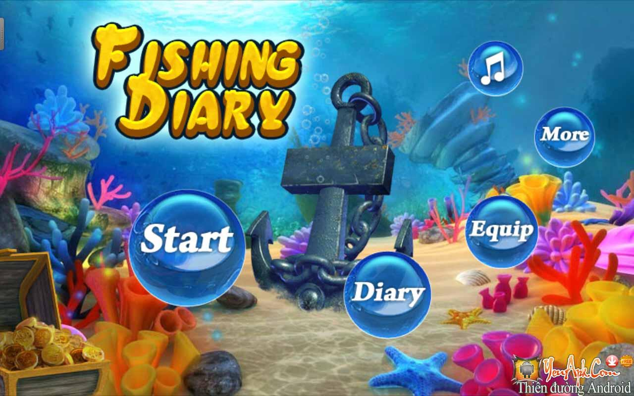 Hack Fishing Diary mod full tiền cho Android - Game Bắn Cá Offline
