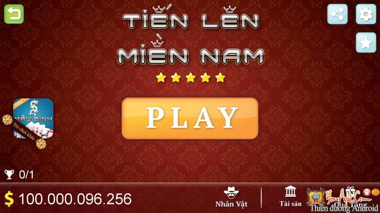 Hack, Bug xu game bài Tiến Lên Miền Nam - Thirteen v2.2.1