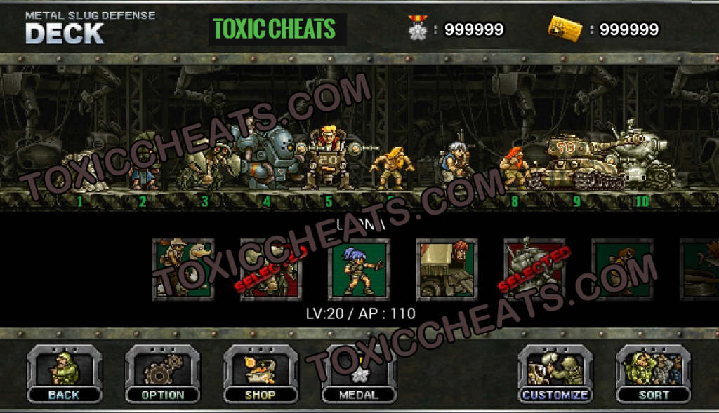 Hack game Metal Slug Attack mod AP full cho Android