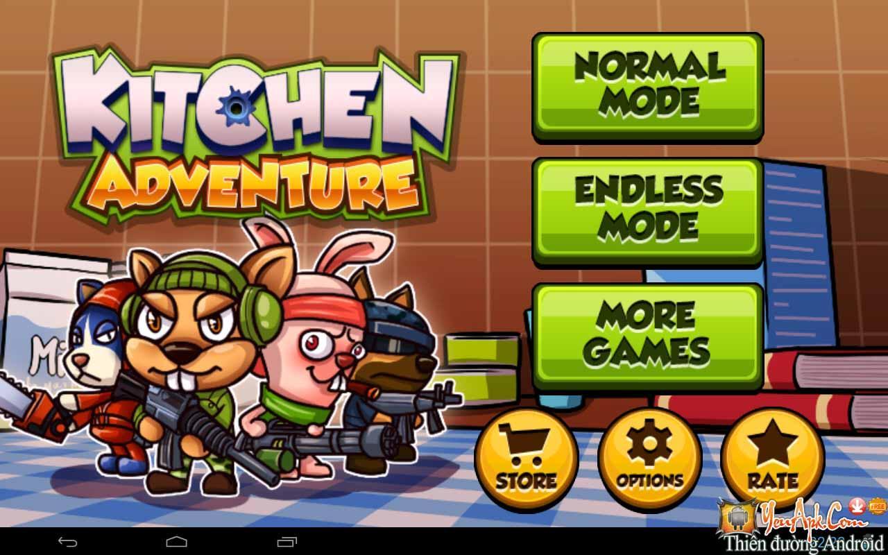 Hack Kitchen Adventure 3D - Cuộc chiến nhà bếp
