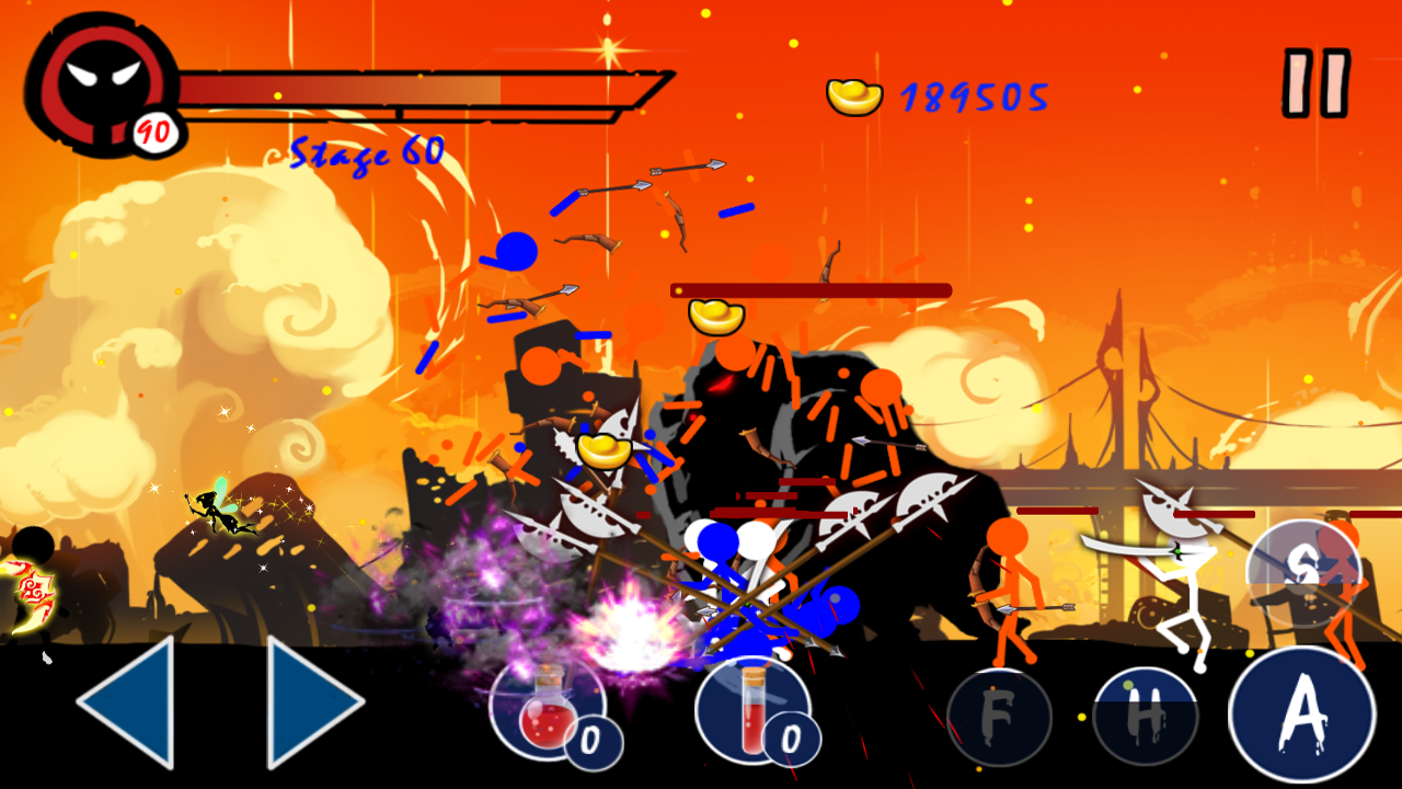 Hack Stickman Ghost Warrior v1.3 mod full tiền (gold) cho Android