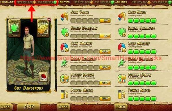 Hack Temple Run 2 mod full vàng, kim cương cho Android