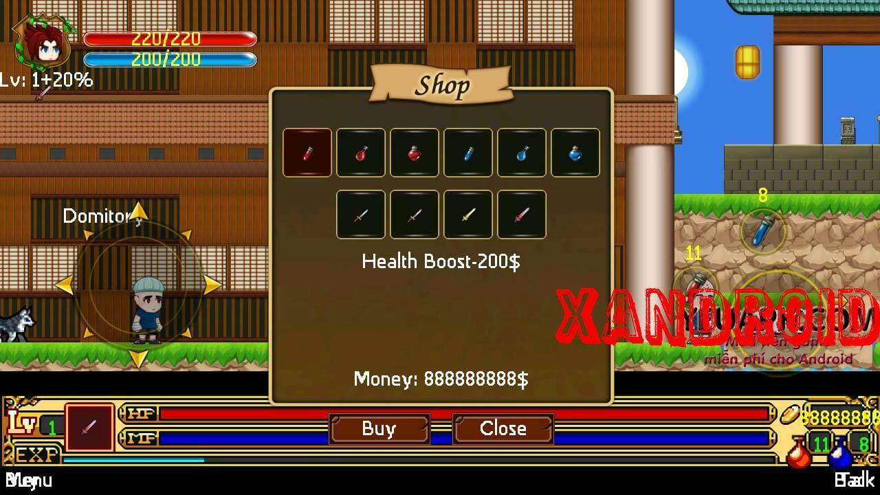 Ninja Kid hack vàng - mua kiếm rồng - mua đồ miễn phí