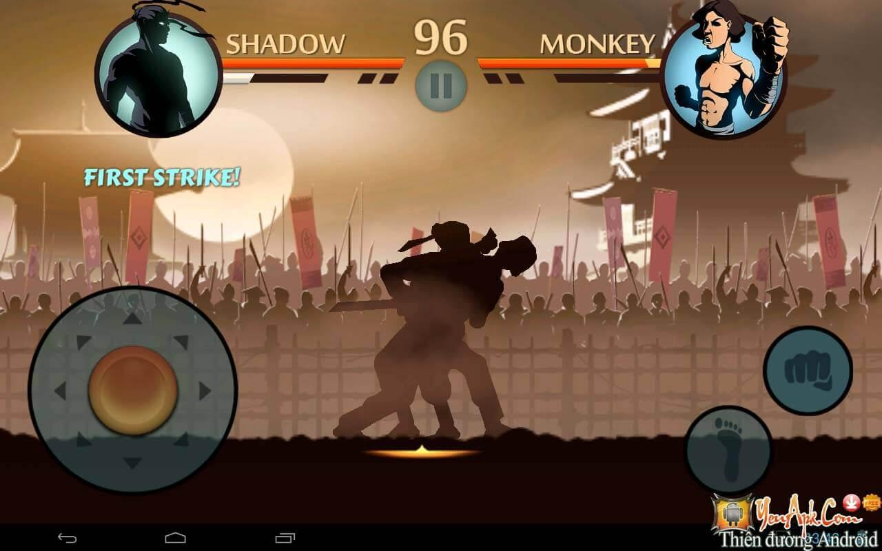 Shadow Fight 2 hack level, hack full tiền, kim cương cho Android