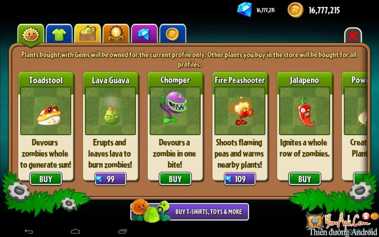 Tải Hack Plants and Zombies 2 Mod Full Tiền, Kim Cương APK