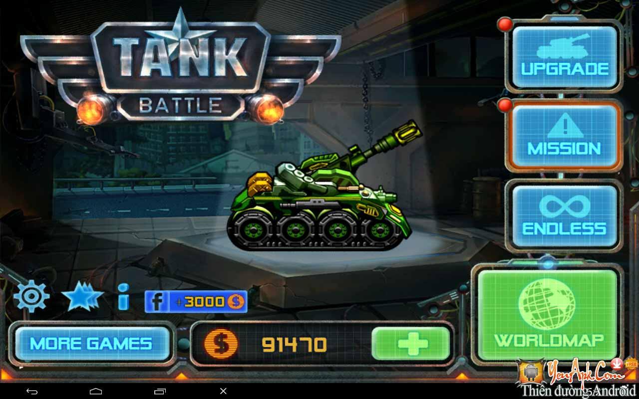Tải Tank Battle Hack - Game bắn xe tăng Offline